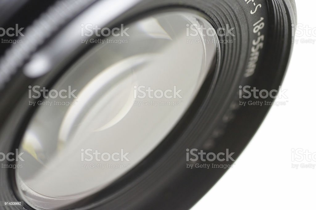 Close-up of the lens stock photo
