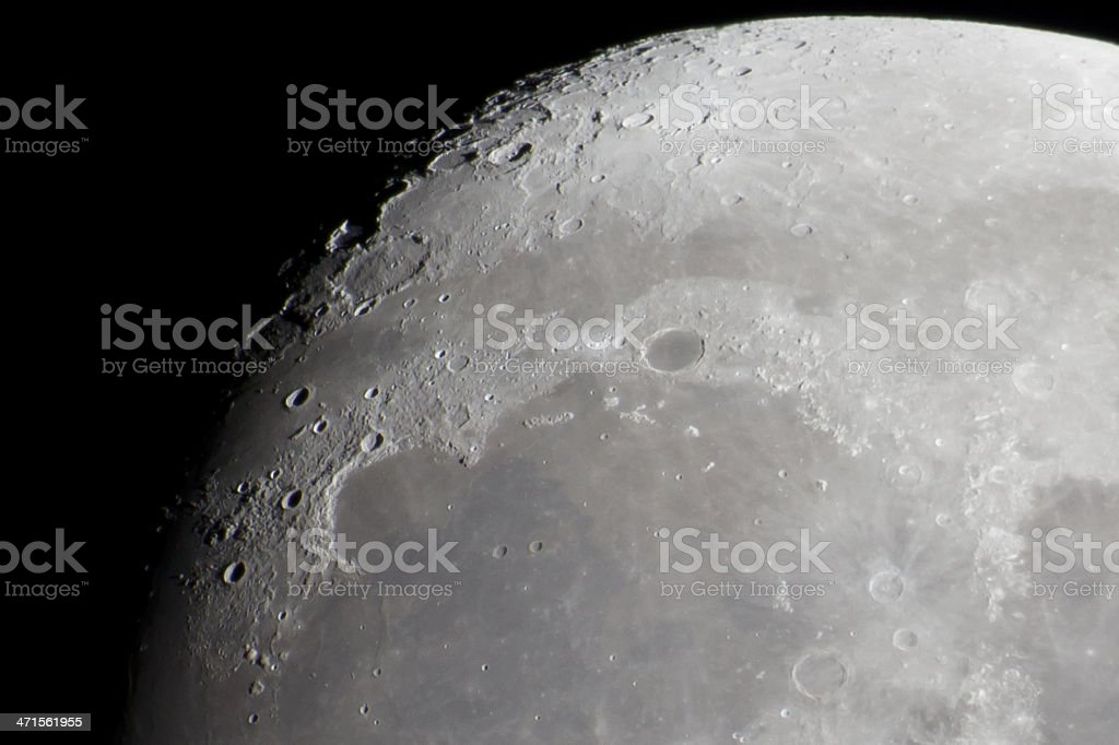 Close-up of the Moon royalty-free stock photo