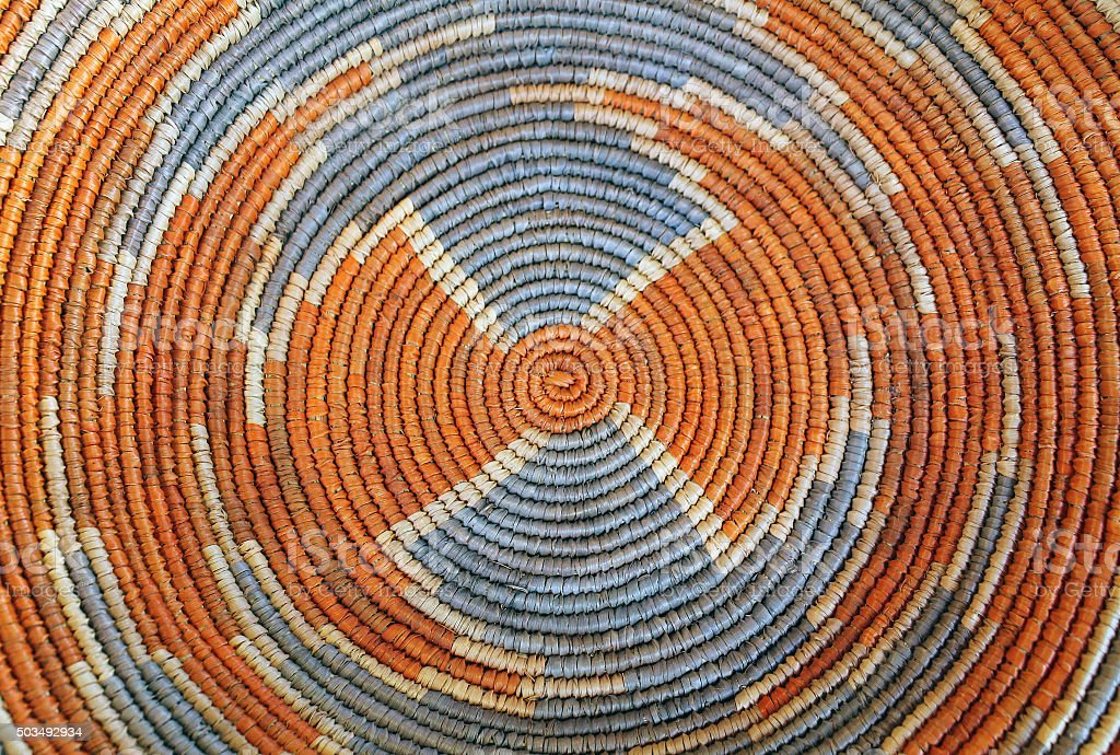 Closeup of the Pattern on a Woven Basket stock photo