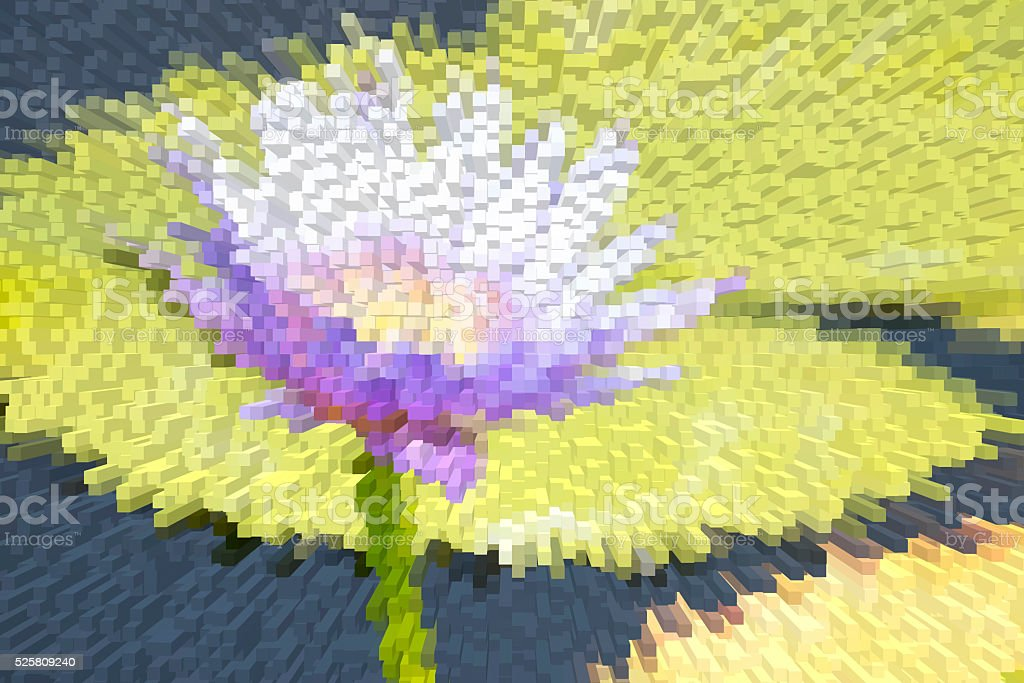 close-up of the purple lotus with extrude effect stock photo