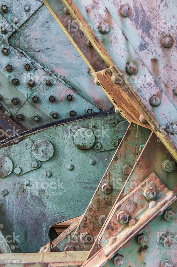 Closeup of the railroad bridge Friesenbrucke close to Weener stock photo