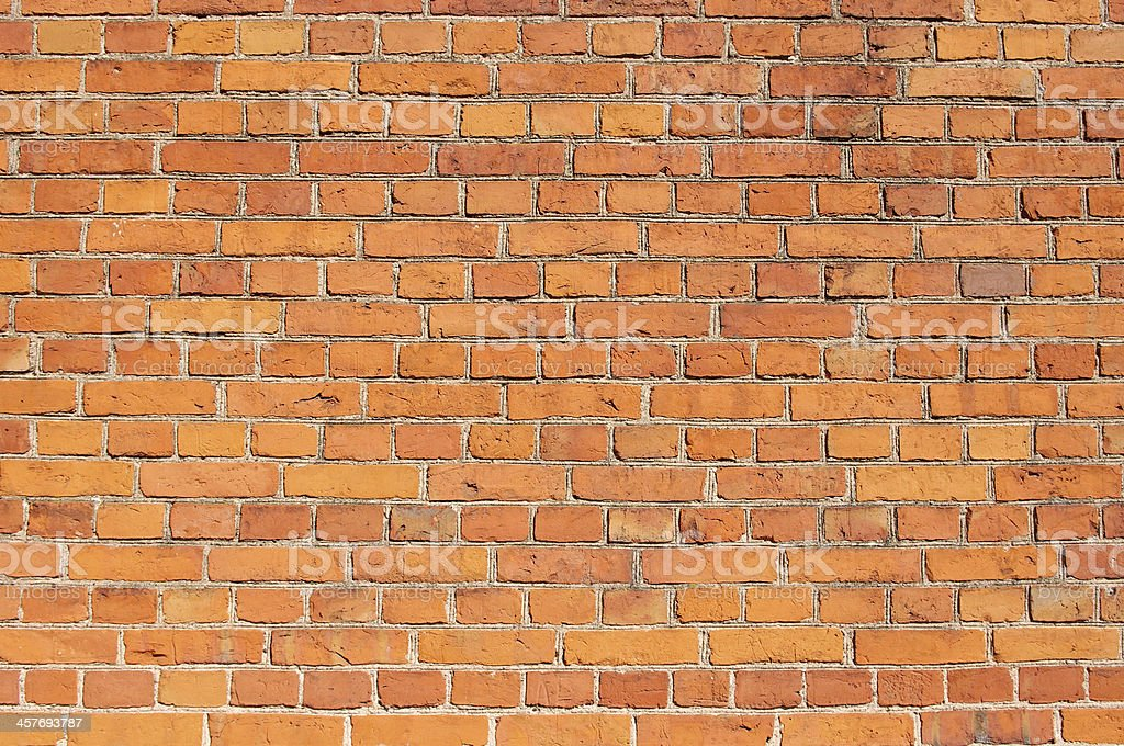 Closeup of the red brick wall texture background royalty-free stock photo