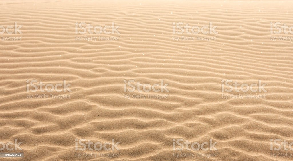 A close-up of the ripples left in the sand by the tide royalty-free stock photo