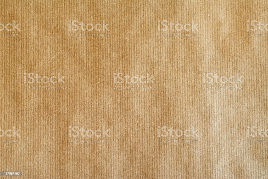 Close-up of the texture on brown paper stock photo
