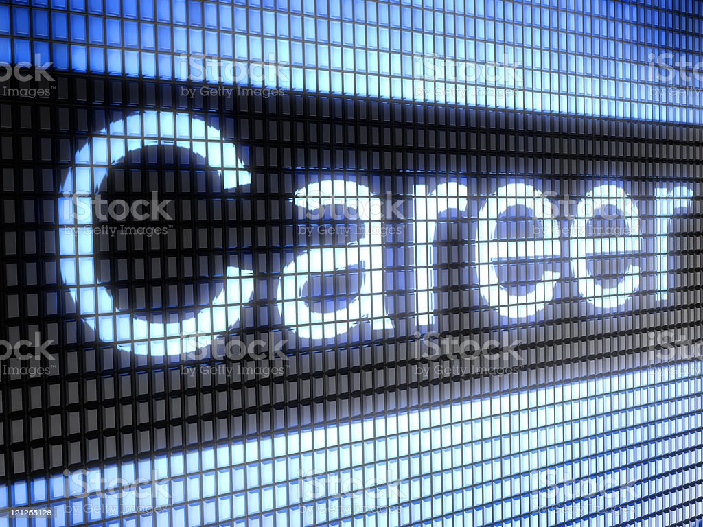 Closeup of the word career on computer screen royalty-free stock photo