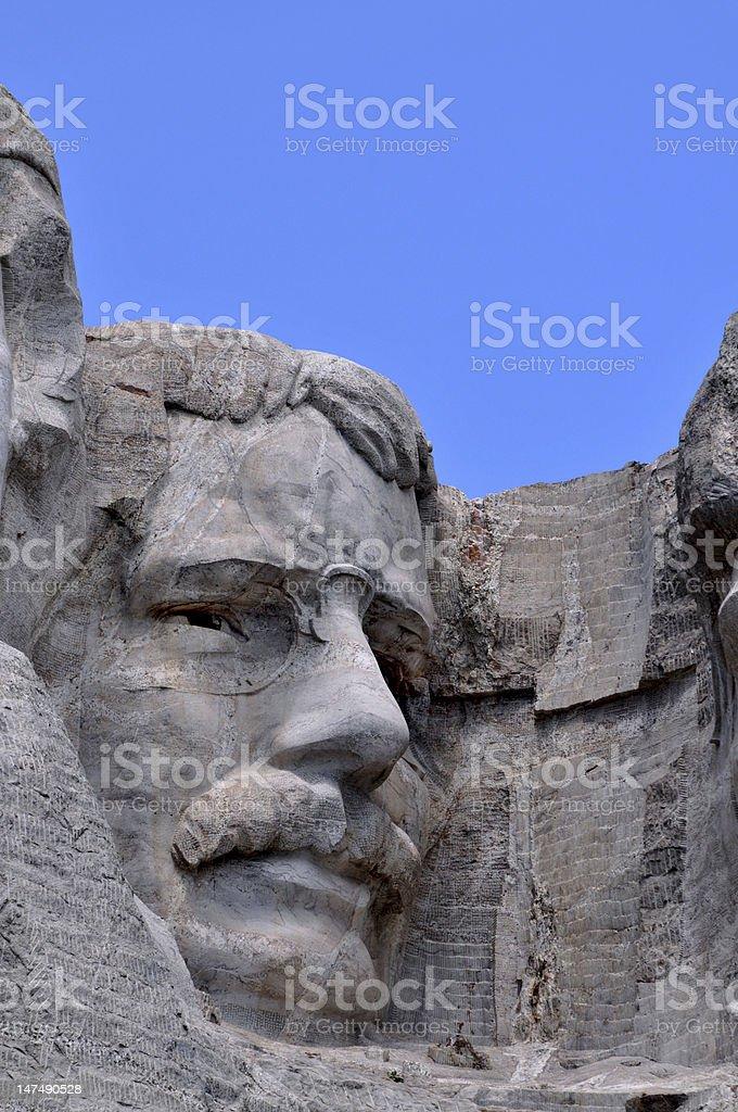 Closeup of Theodore Roosevelt stock photo