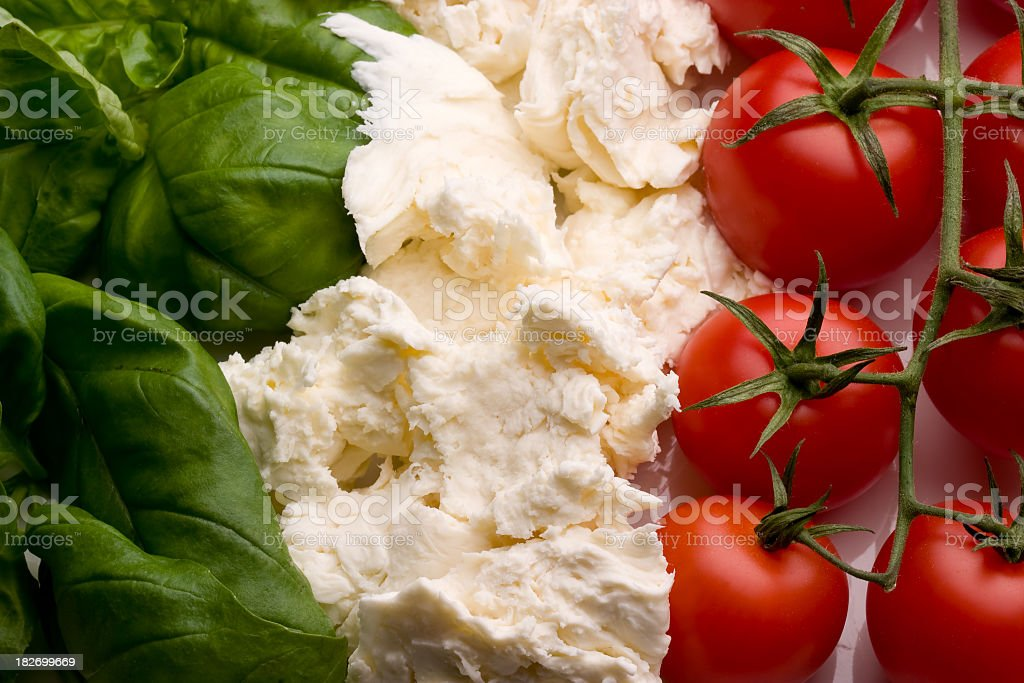 Close-up of three different kinds of vegetables stock photo