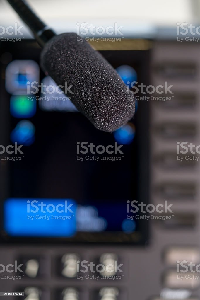Close-up of tiny speaker stock photo