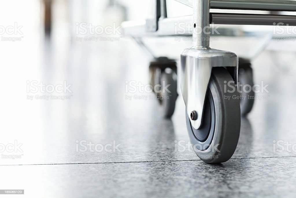 Close-up Of Trolley's Wheel royalty-free stock photo