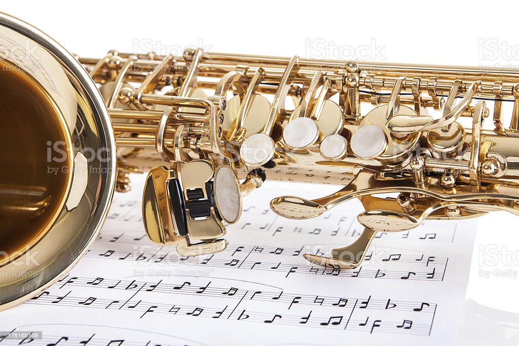Close-up Of Trumpet stock photo