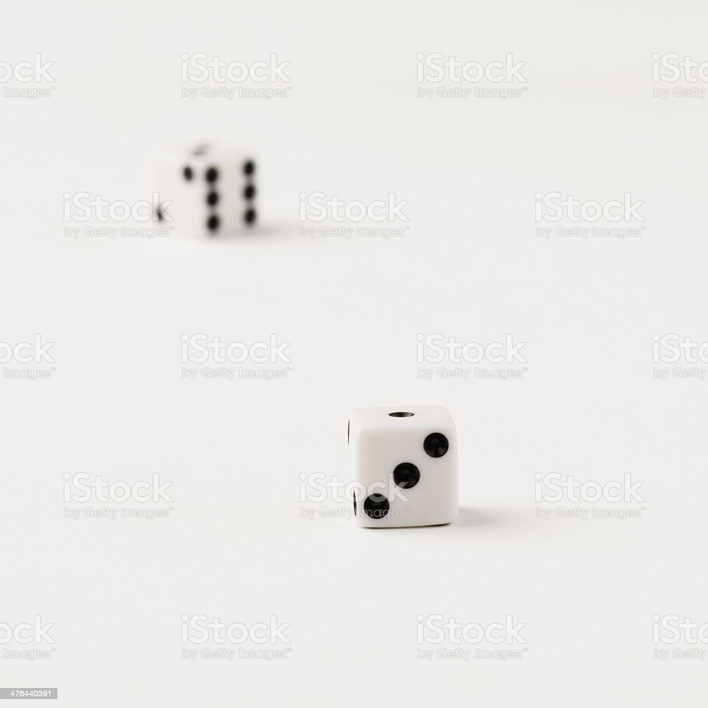 Close-up of two dices royalty-free stock photo