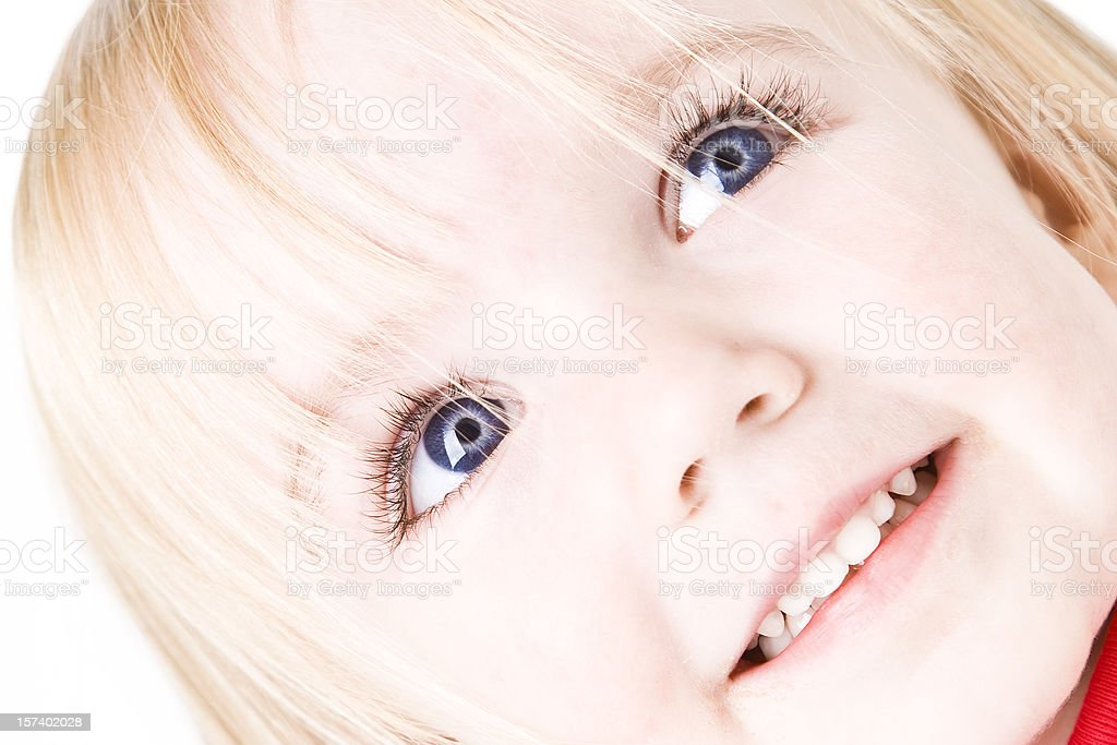 Closeup of Two Year Old Girl Smiling royalty-free stock photo