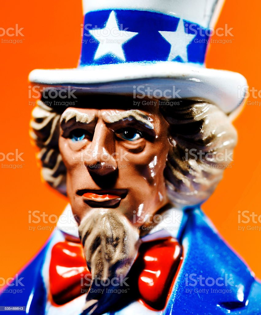 Close-Up of Uncle Sam stock photo