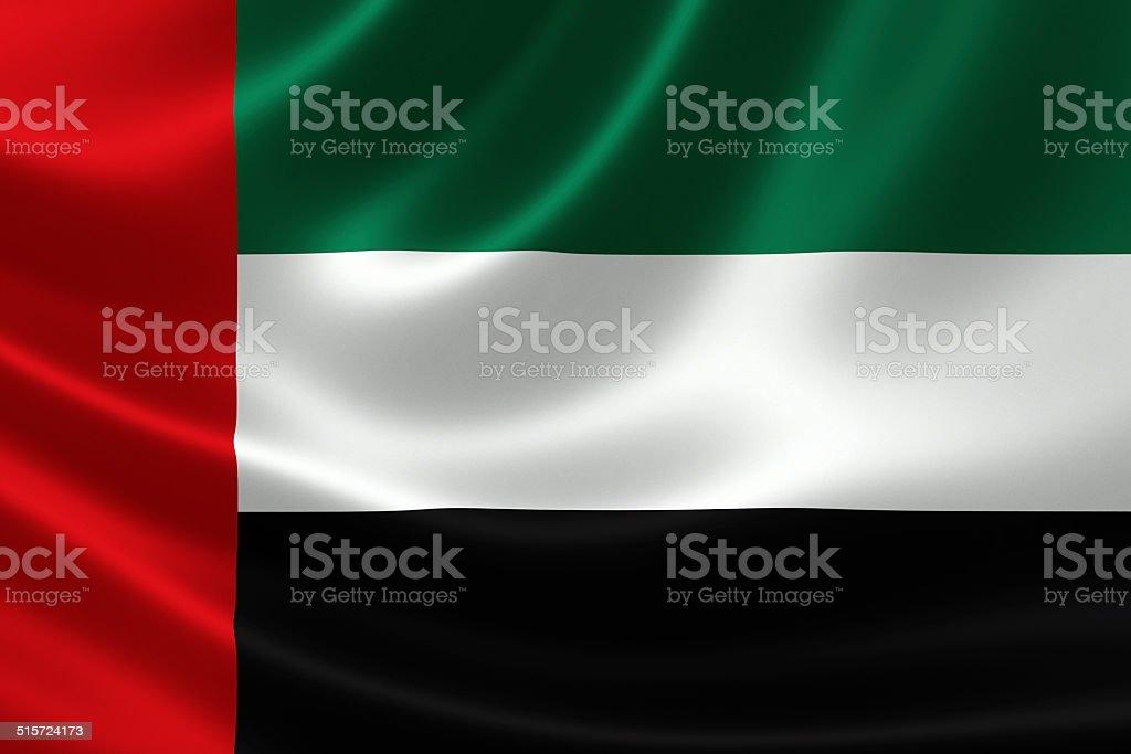 Close-up of United Arab Emirates' Flag stock photo