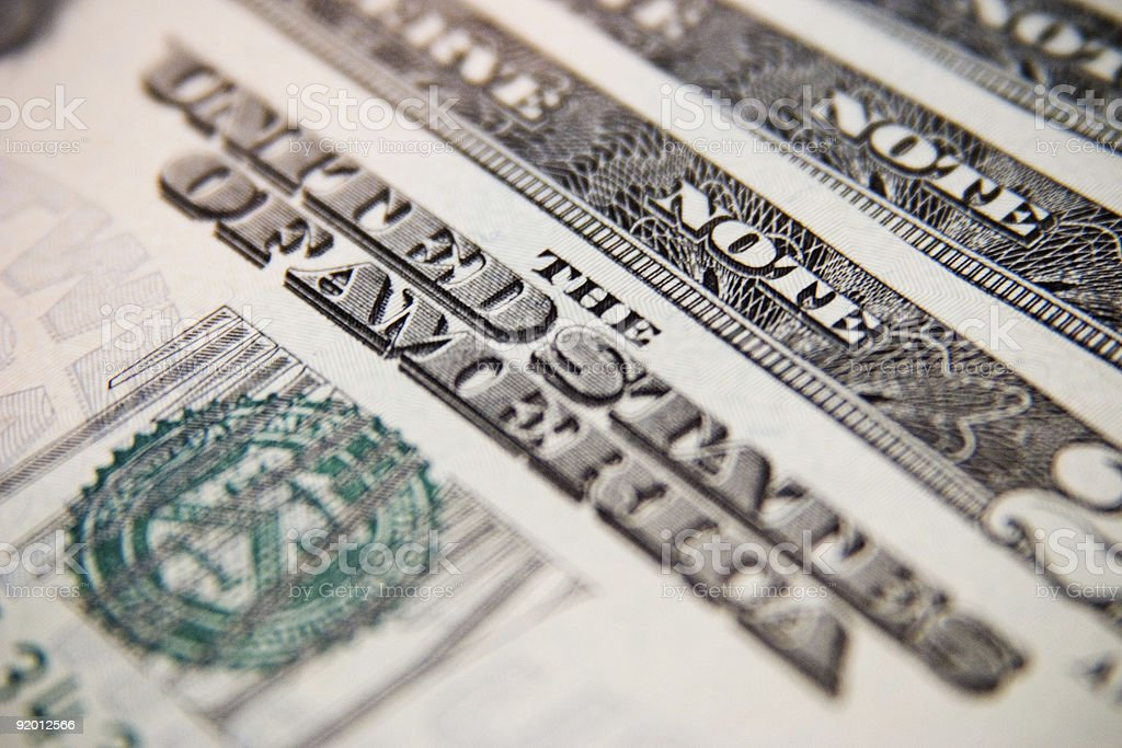 Closeup of U.S. Twenty Dollar Bill royalty-free stock photo