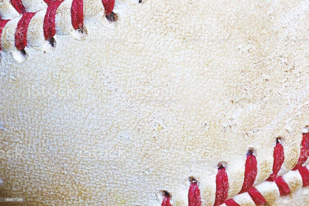 Close-up of used Baseball royalty-free stock photo