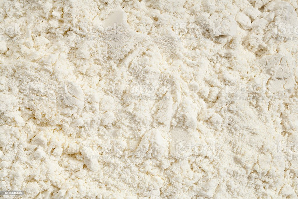 Closeup of vanilla whey protein powder stock photo