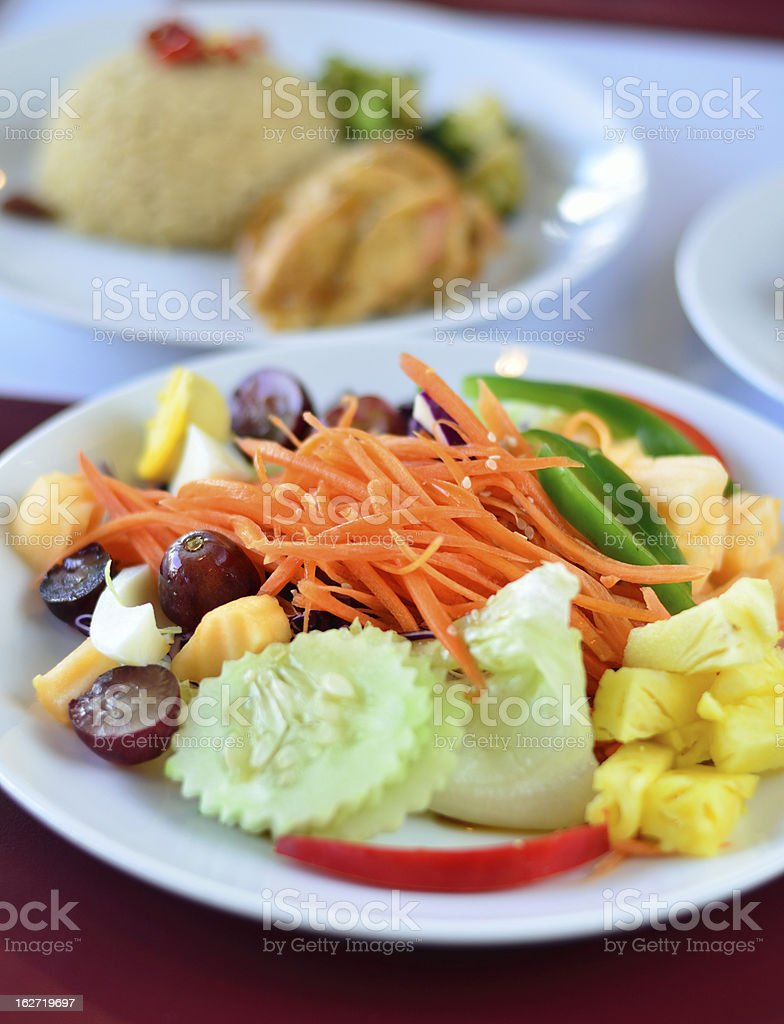 Closeup of vegetable salad royalty-free stock photo