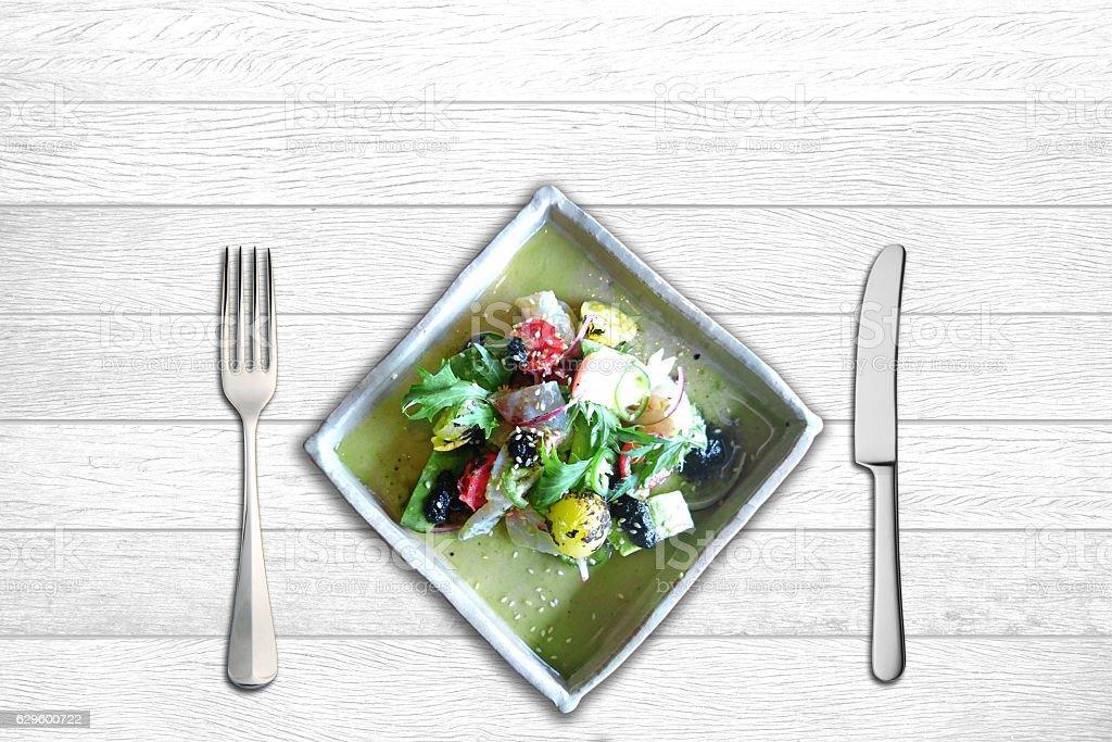 Closeup of vegetable salad stock photo