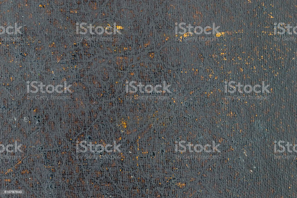 Close-up of very distressed vintage book cover. stock photo