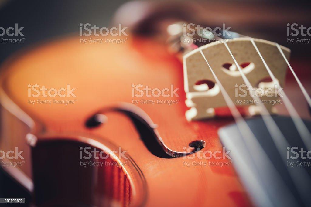 Close-up of Violin stock photo