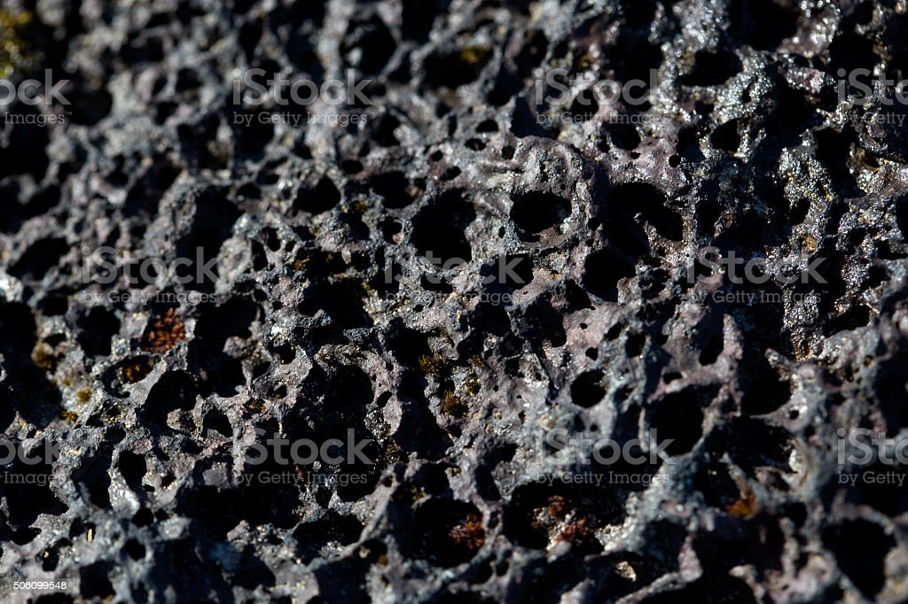 Closeup of volcanic stone stock photo
