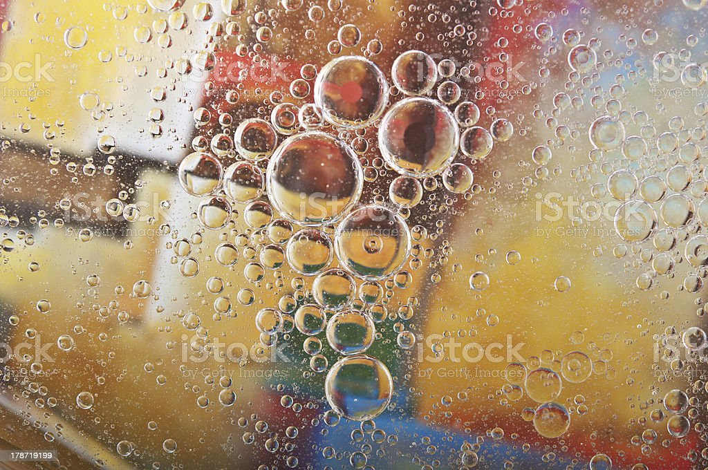 closeup of water bubbles royalty-free stock photo