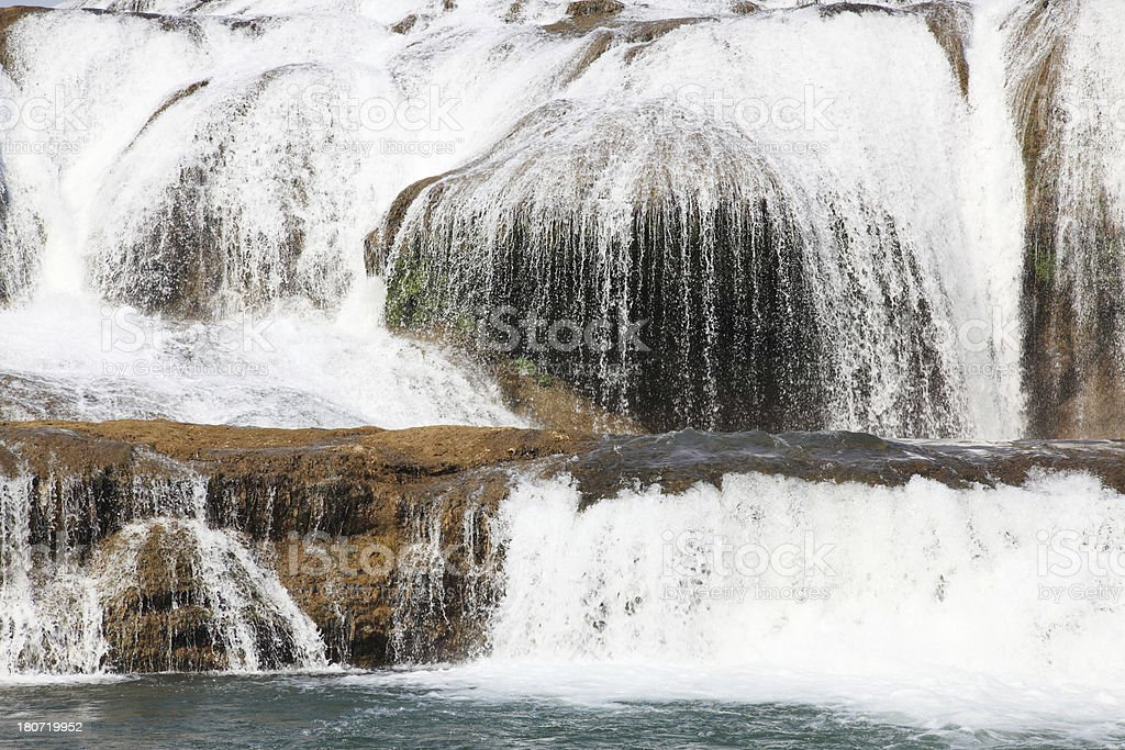 Close-up of waterfall royalty-free stock photo