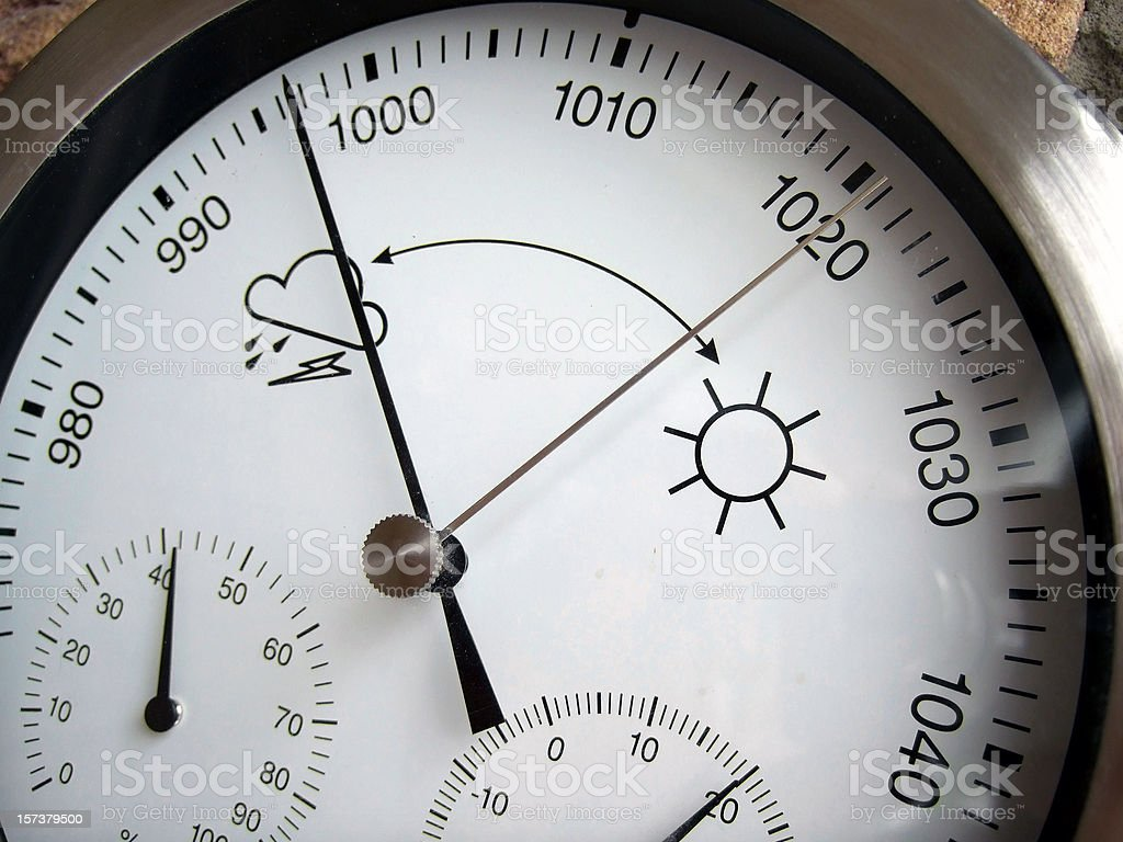 Close-up of weather thermometer royalty-free stock photo