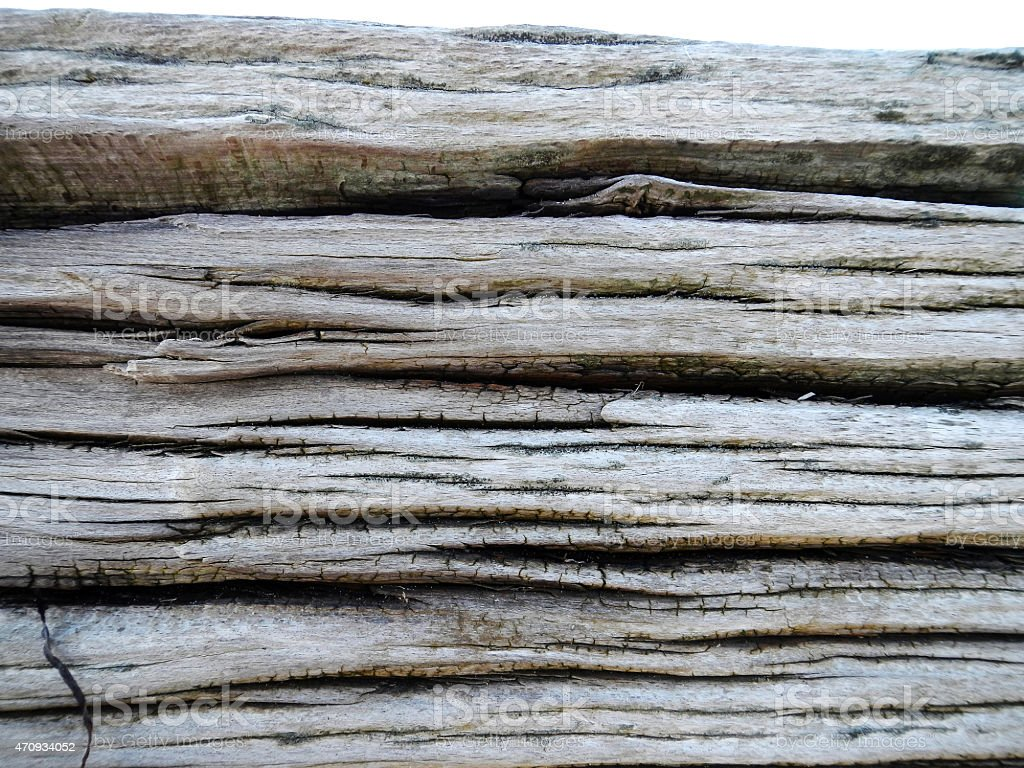 Close-up of weathered wood with horizontal lines stock photo