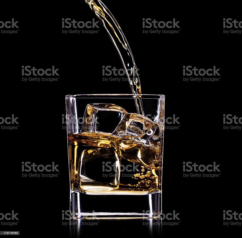 Close-up of whiskey royalty-free stock photo