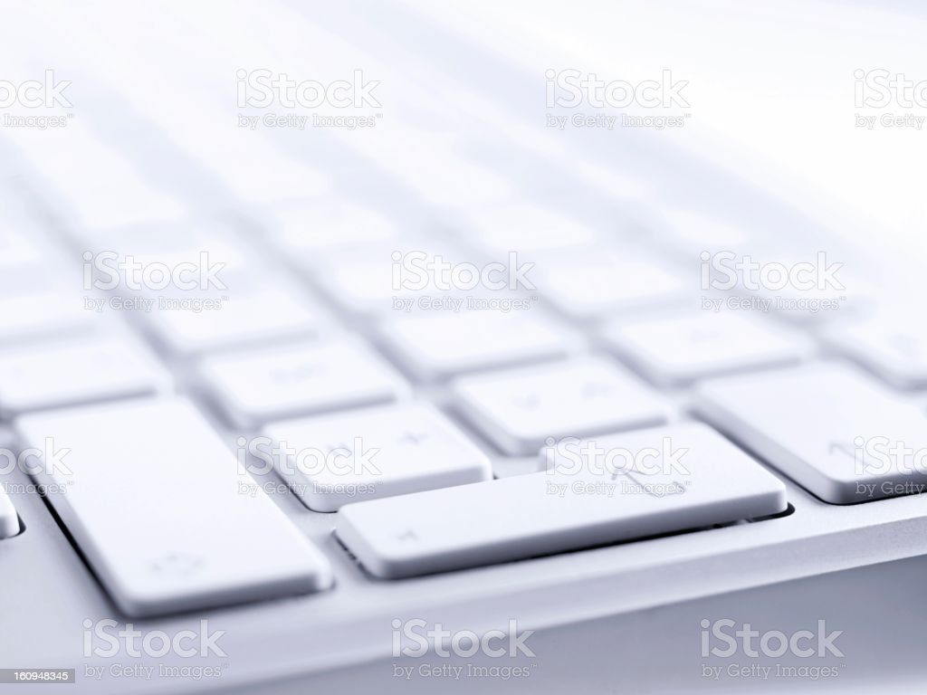Close-up of white and gray computer keyboard royalty-free stock photo