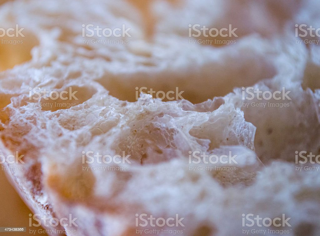 Close-up of White Bread royalty-free stock photo