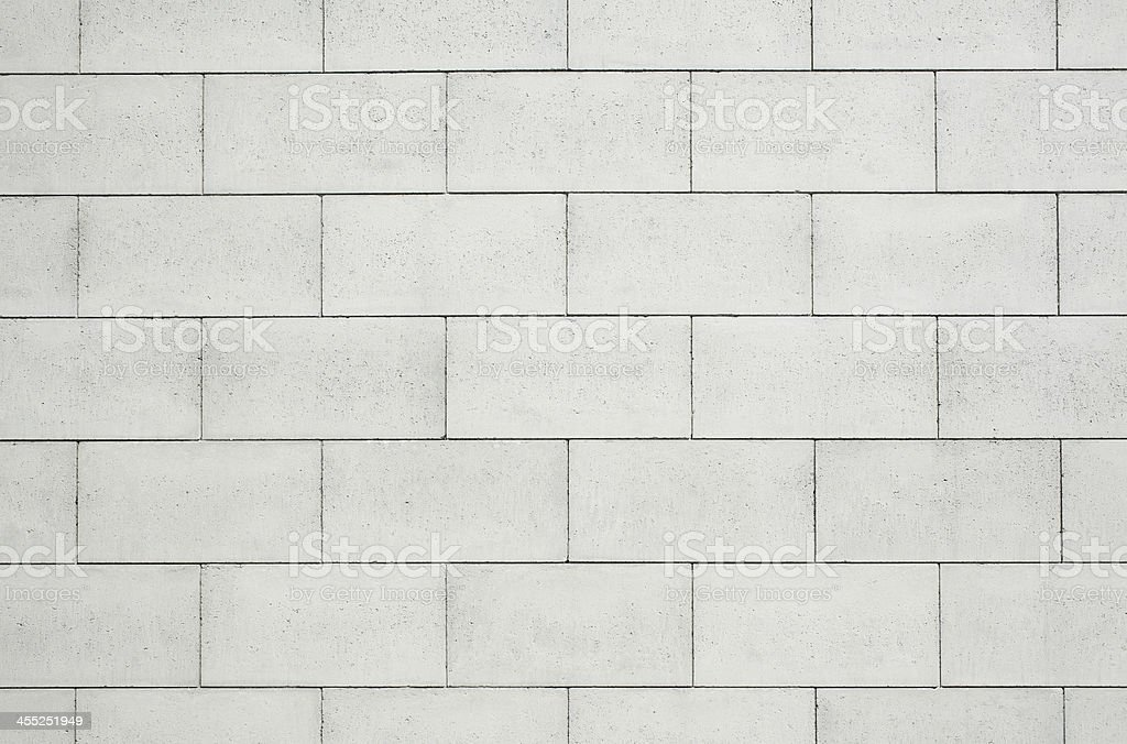 Close-up of white concrete block wall stock photo