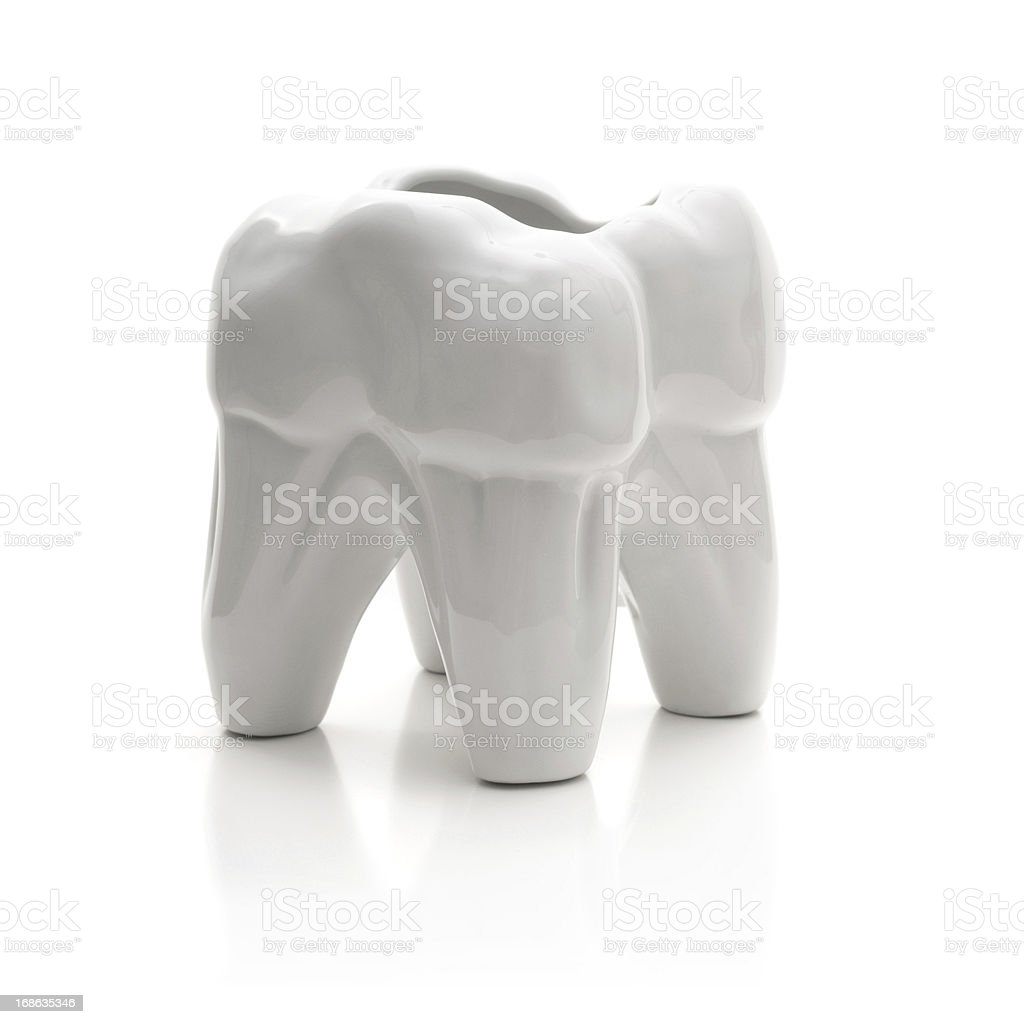 Close-up of white teeth royalty-free stock photo