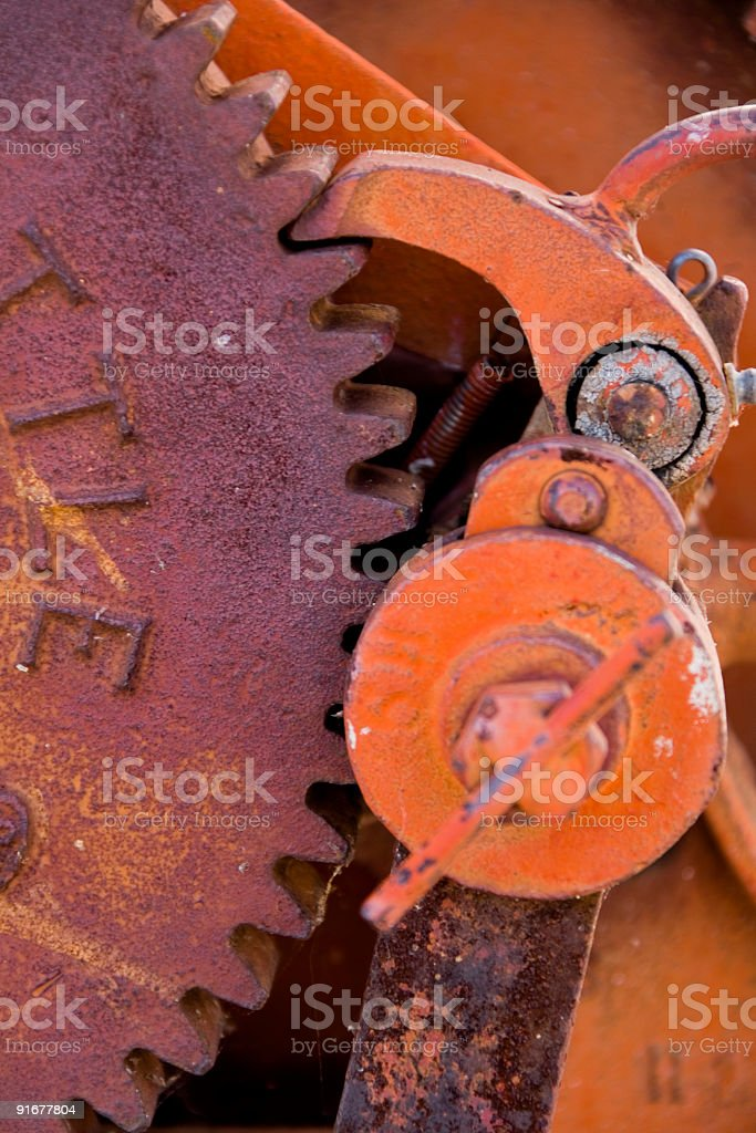 Close-up di un verricello foto stock royalty-free