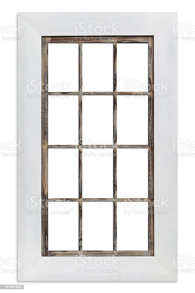Close-up of window frame on white background royalty-free stock photo