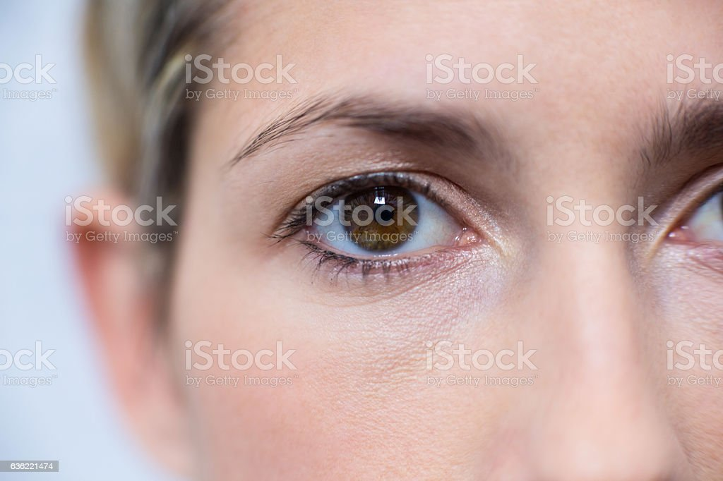 Close-up of woman eye stock photo