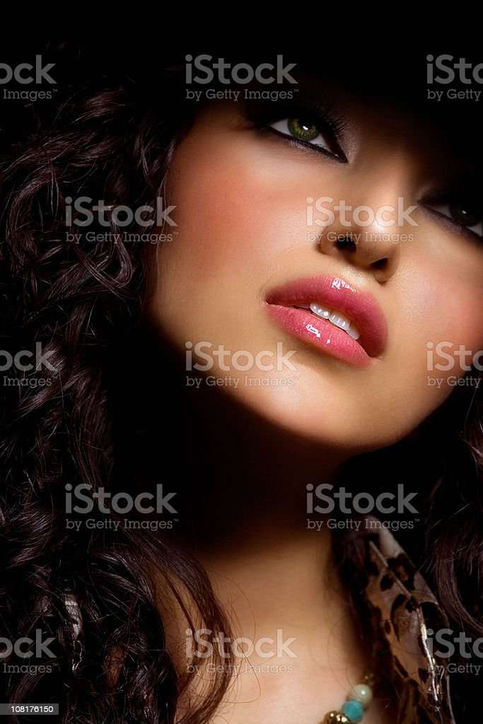 Close-up of Woman royalty-free stock photo