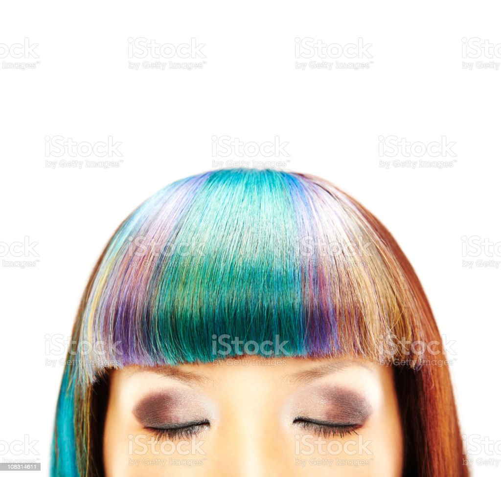Close-up of Woman With Closed Eyes royalty-free stock photo