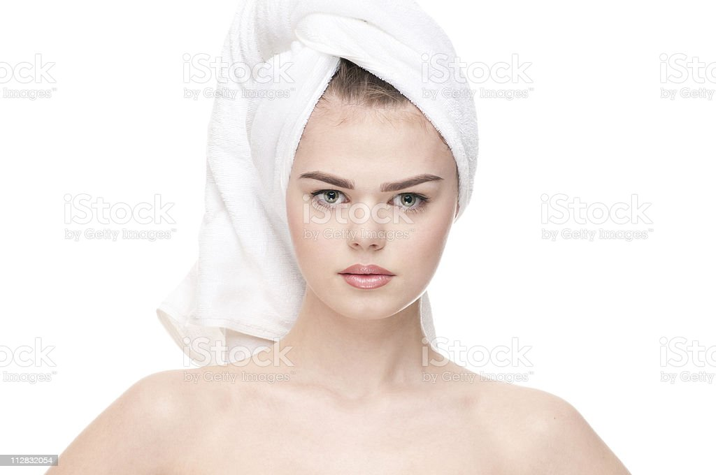Close-up of woman with perfect health skin royalty-free stock photo