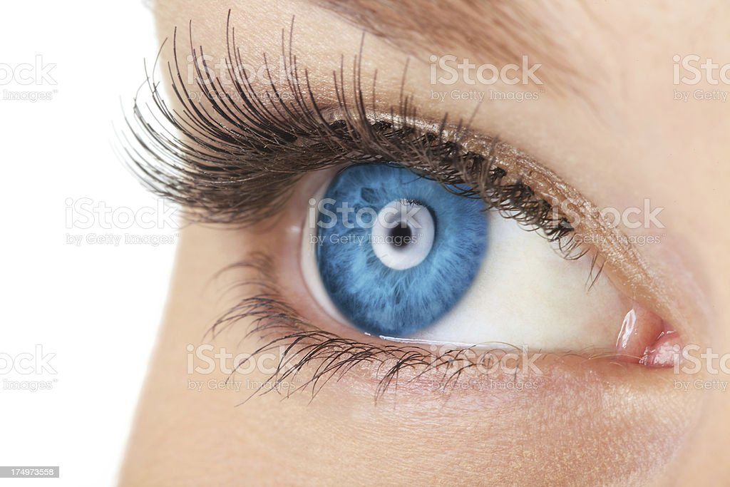 Close-up Of Woman's Eye stock photo