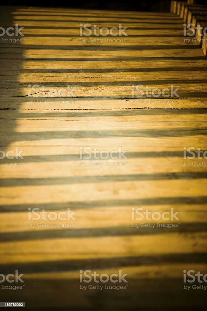 Close-up of Wooden Bridge stock photo