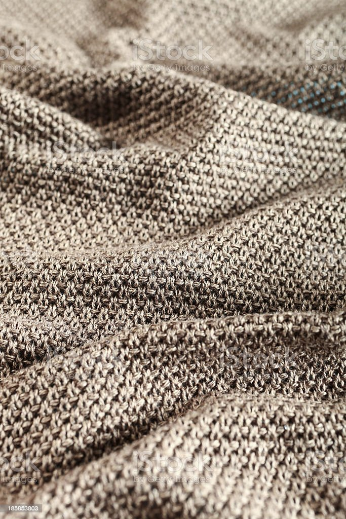 closeup of woolen fabric brown stock photo