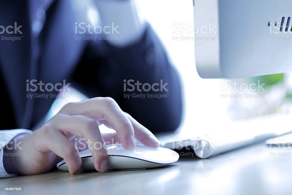Close-up of working businesswoman royalty-free stock photo