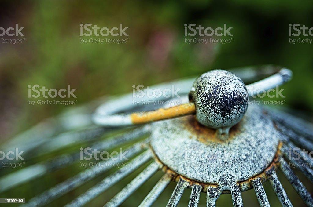 Closeup of Worn Plant Holder stock photo