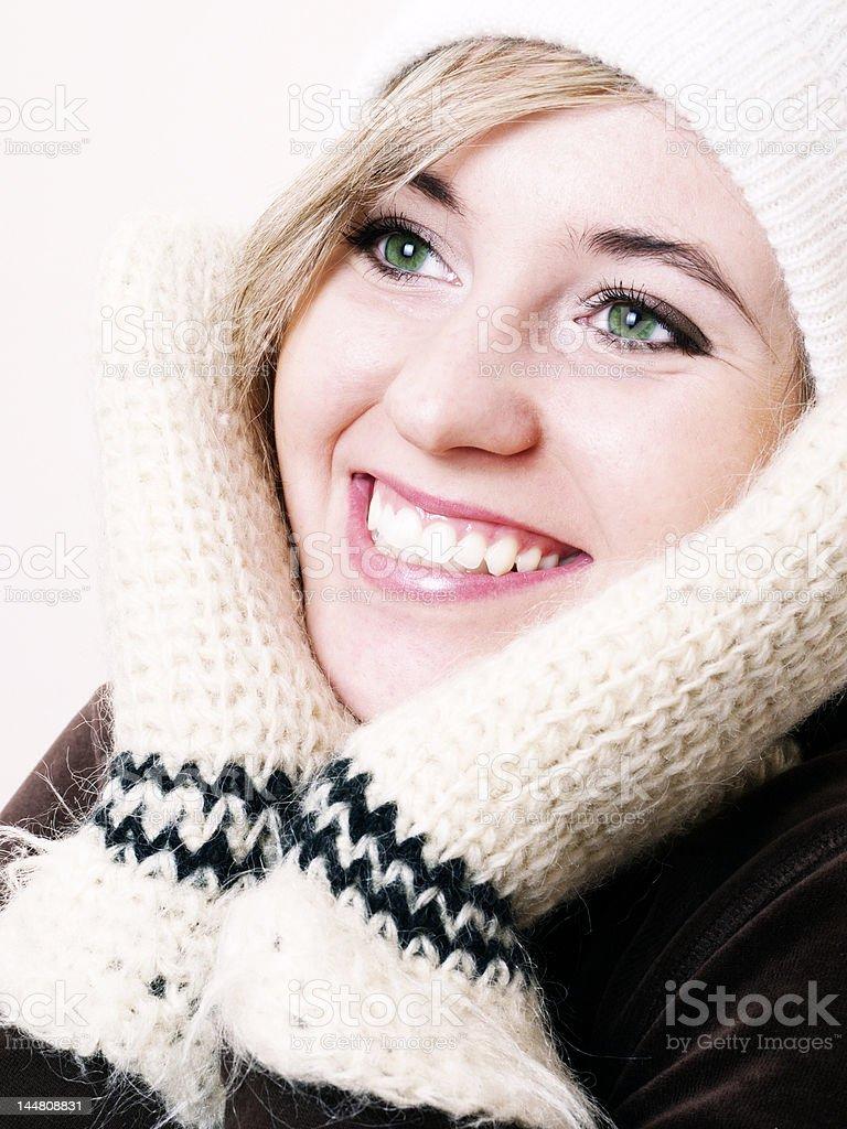 Closeup of young beautiful girl royalty-free stock photo