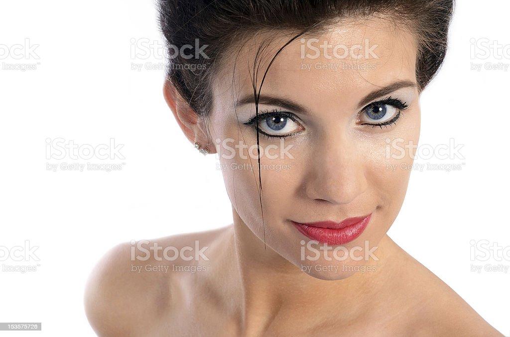 Gros plan de jeune Belle femme photo libre de droits