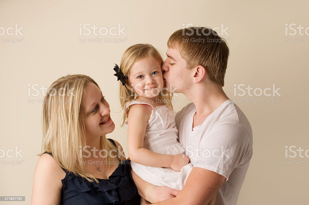 Closeup of Young Family royalty-free stock photo