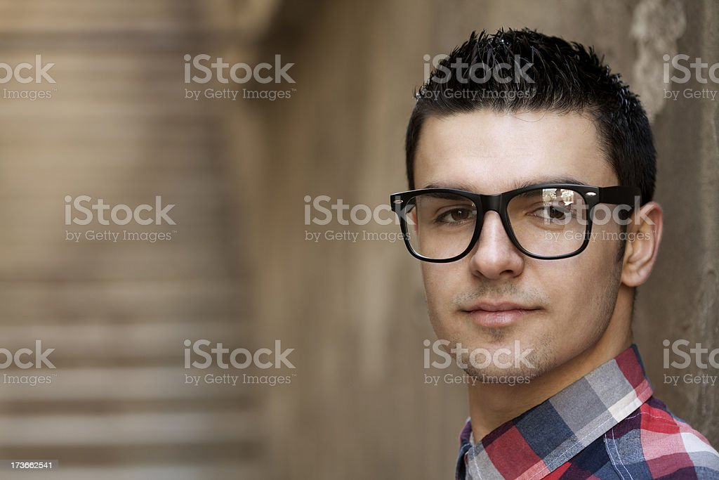 close-up of young man royalty-free stock photo